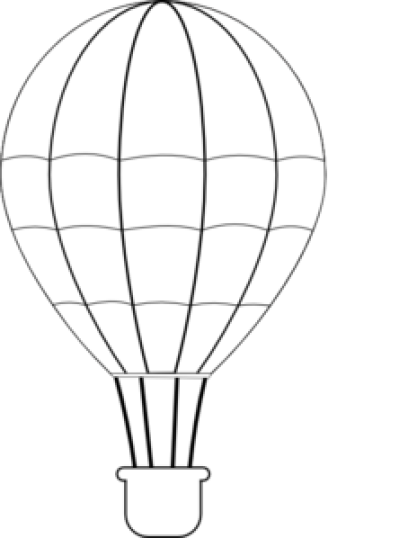 Download Free png PNG Hot Air Balloon Black And White Transparent.