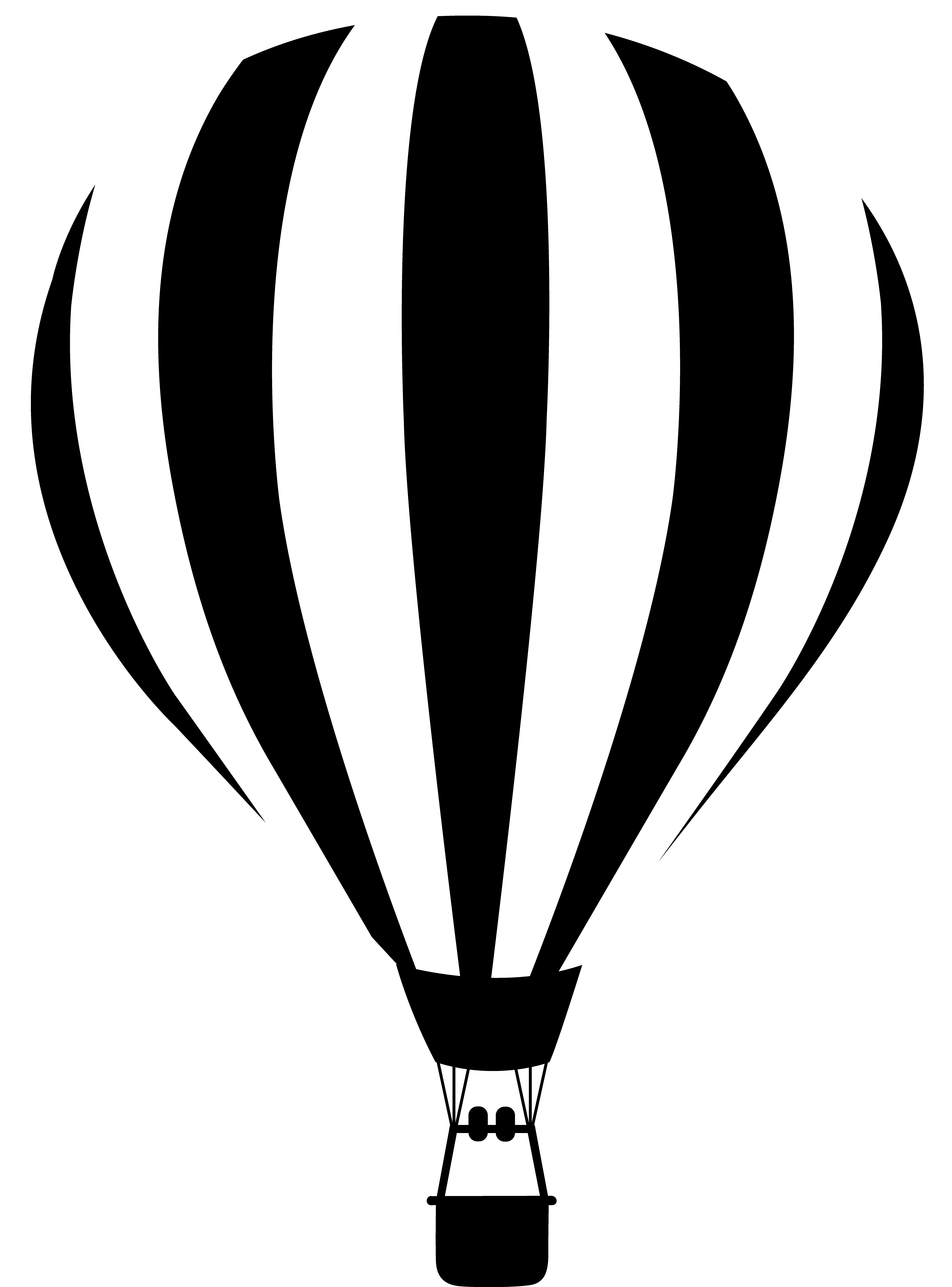 Hot Air Balloon Clip Art Black And White N4 free image.