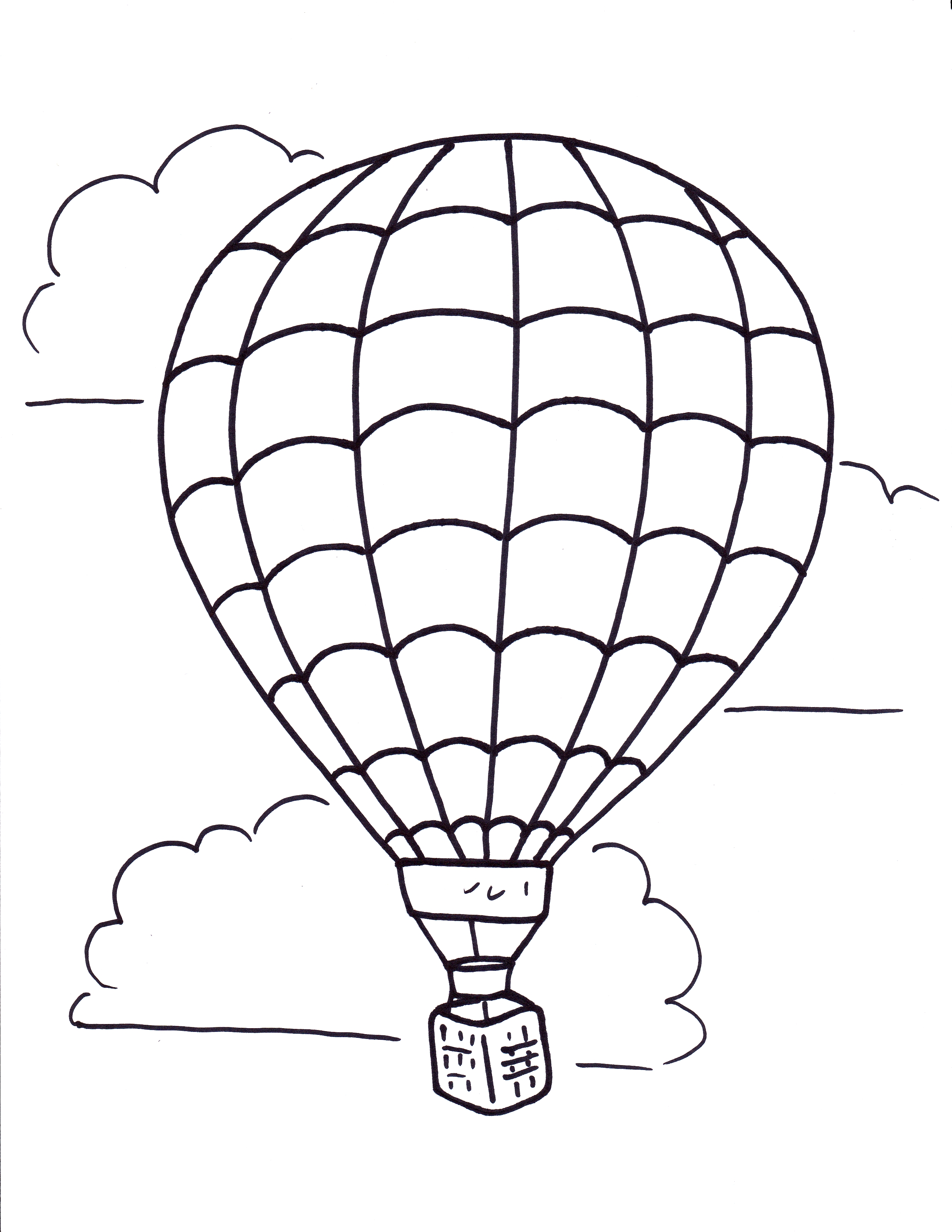 Hot air balloon black and white related hot air balloon coloring.