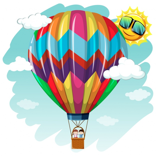 1760 Hot Air Balloon free clipart.