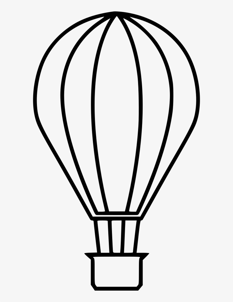 Hot Air Balloon Outline Png Clipart Down #446389.
