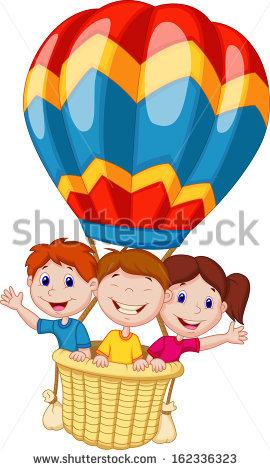 Hot Air Balloon Cartoon Stock Photos, Royalty.