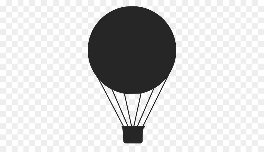Hot Air Balloon Silhouette.