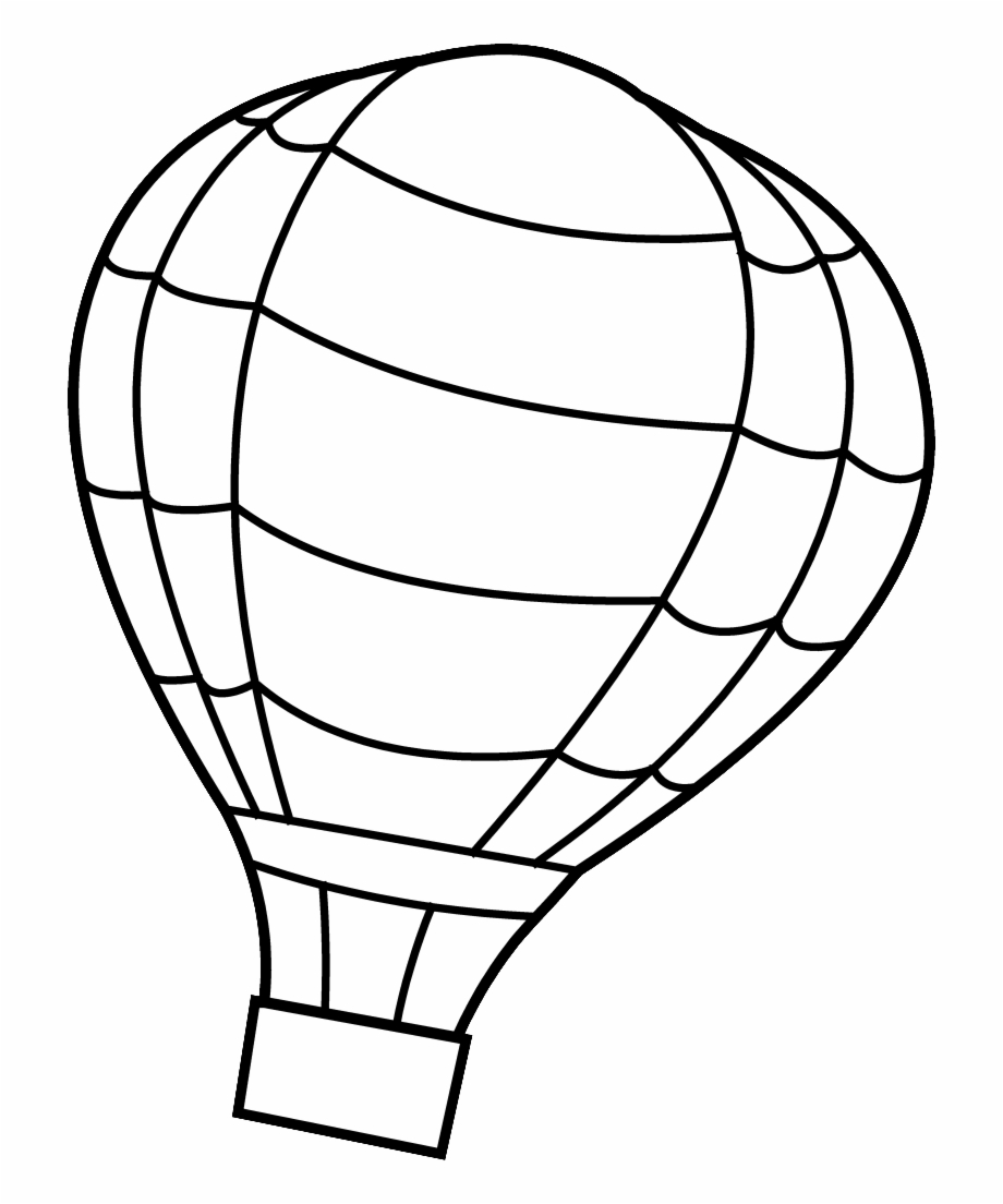 19 Hot Air Balloon Vector Free Stock Black And White.