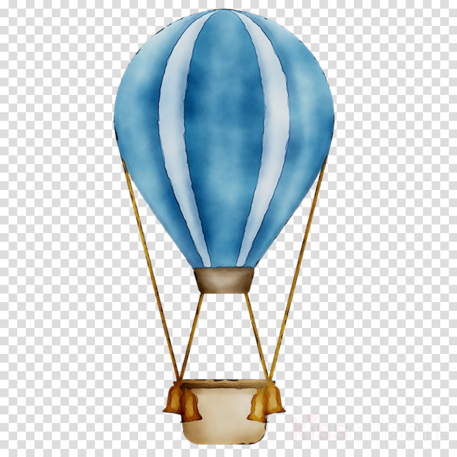 Hot Air Balloon Watercolor clipart.