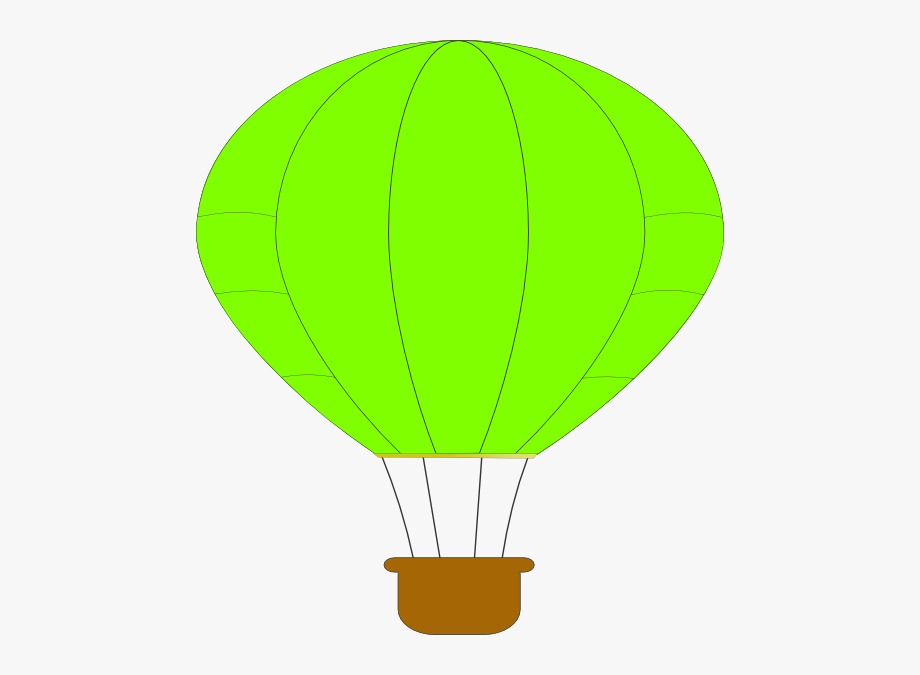 Green Hot Air Balloon Clip Art.