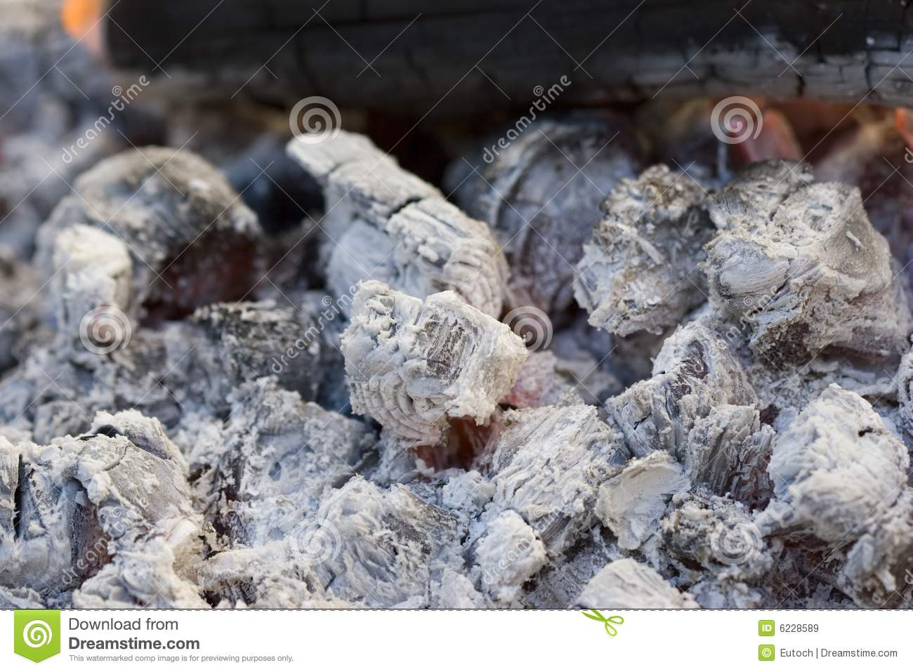 Hot Ashes Stock Images.