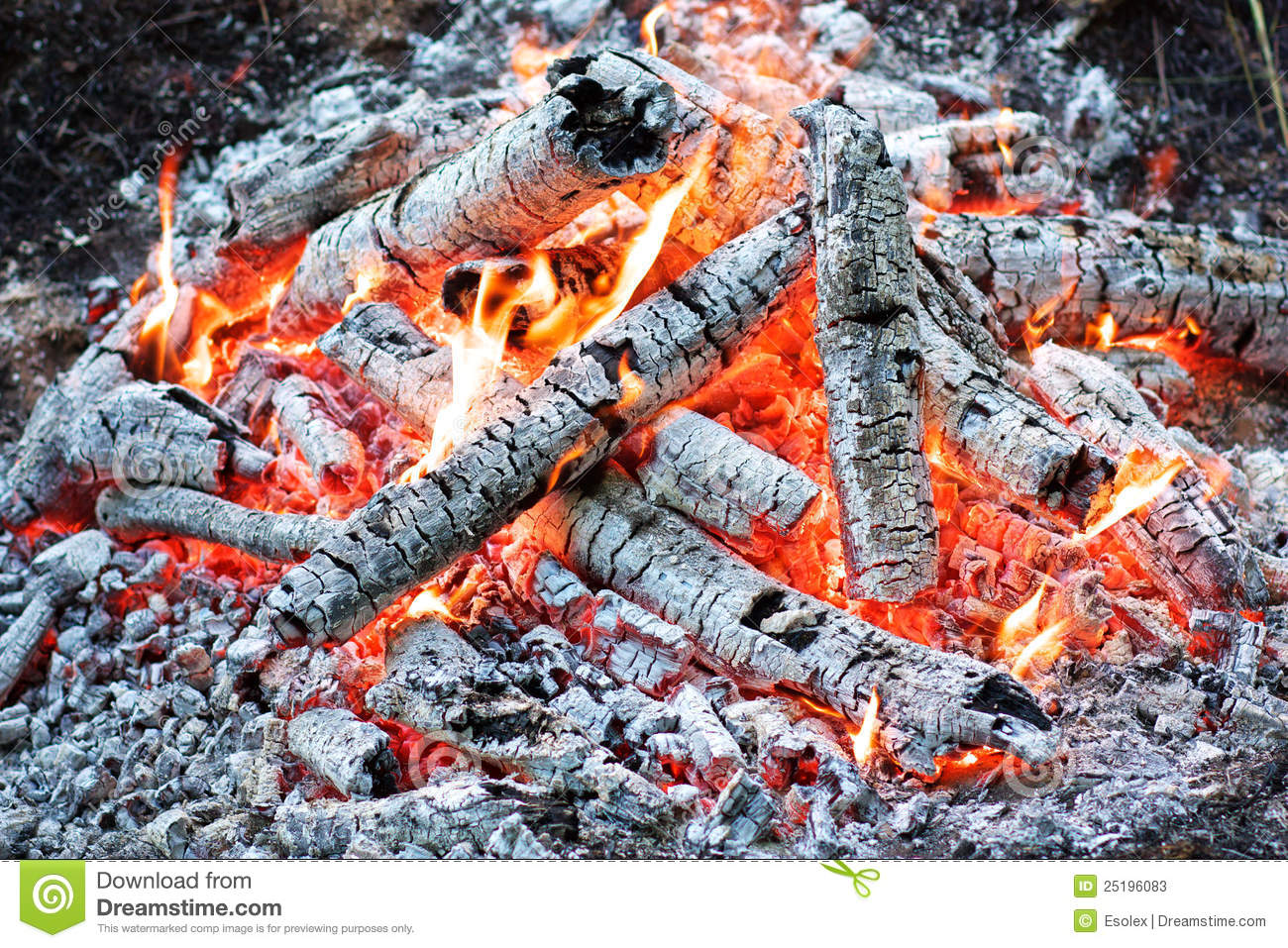 Coals In The Fire Stock Photos.