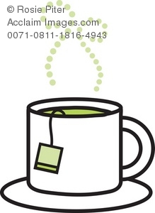 Royalty Free Clipart Illustration of a Cup of Tea.