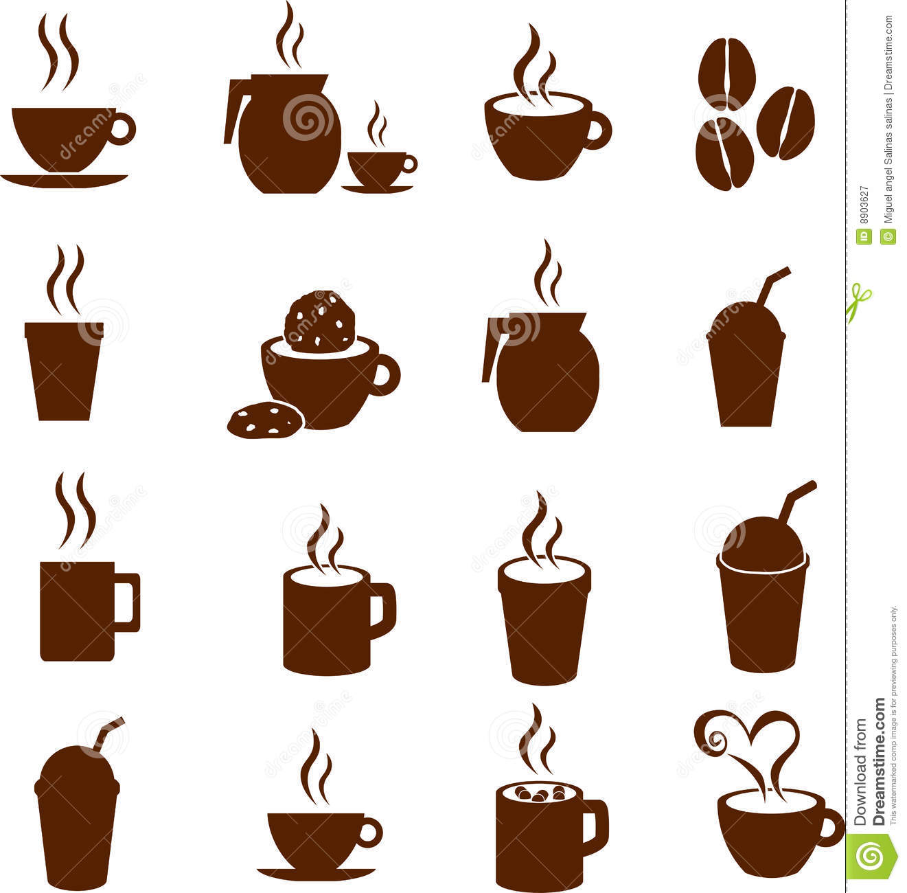 Vector Coffee Chocolate And Hot Beverages Drinks Royalty Free.