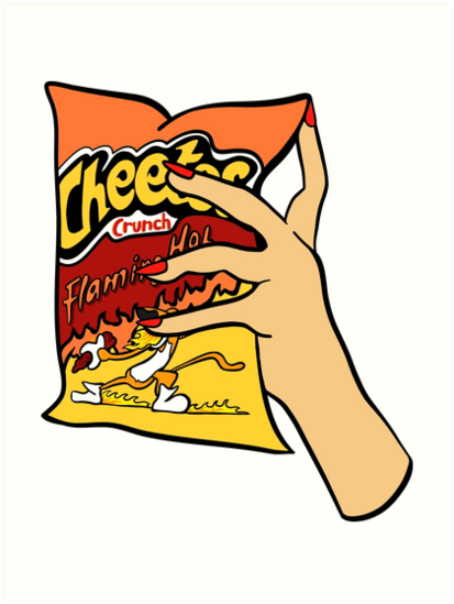 'Flaming Hot Cheetos' Art Print by genevievedesign.