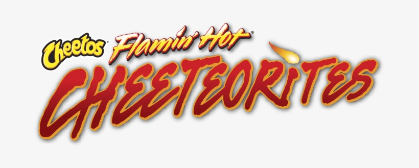Cheetos Flaming Hot Cheeteorites Logo.