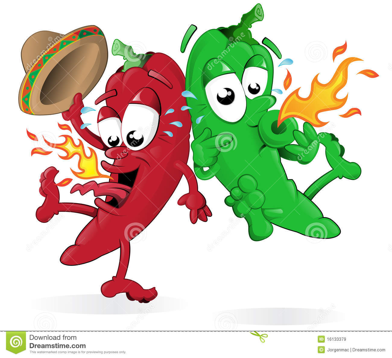 Hot peppers clipart.