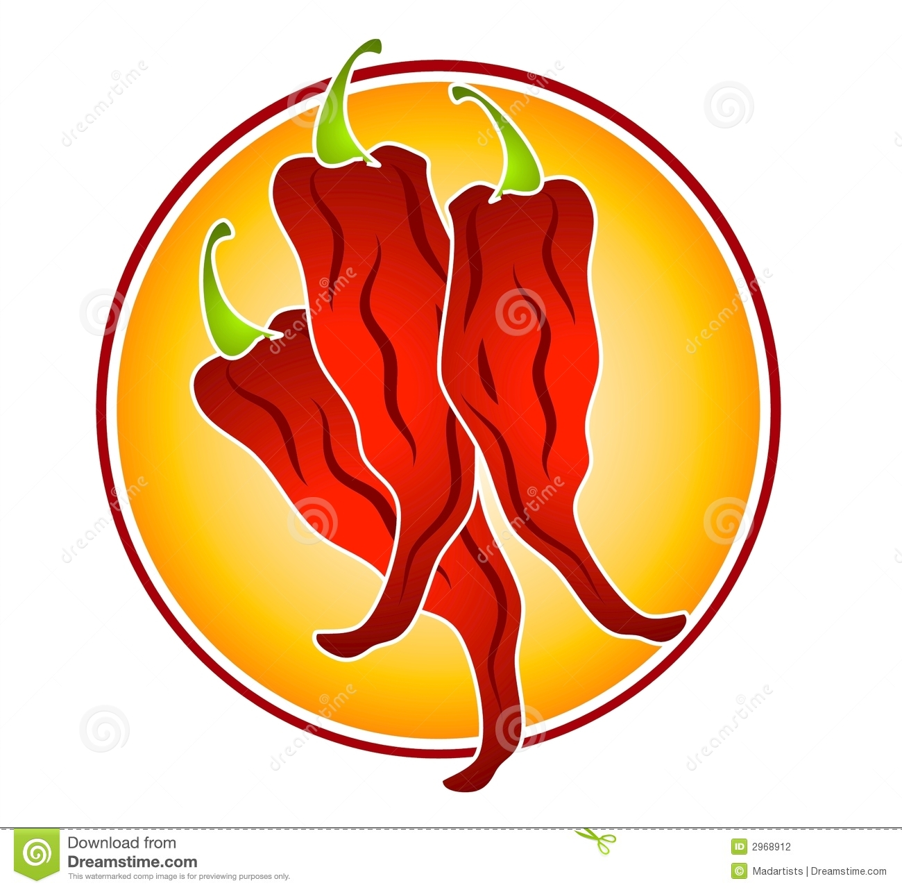 Red Chili Pepper Clipart.