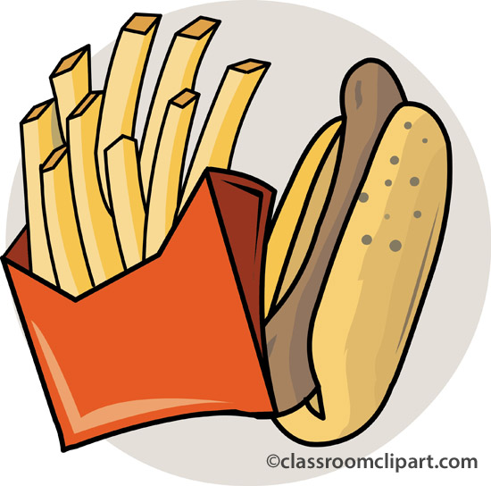 Hot chips clipart.