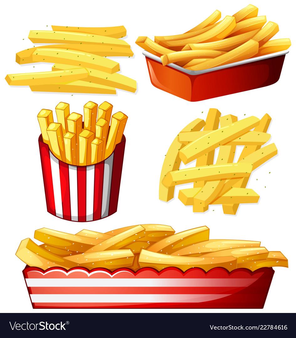 Set of hot chips.