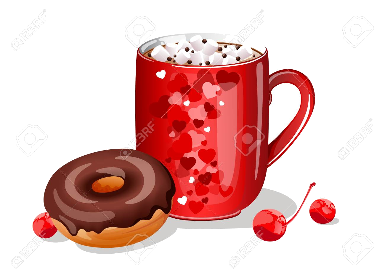 Hot Chocolate Clipart Donut Free Clip Art Stock Transparent Png.