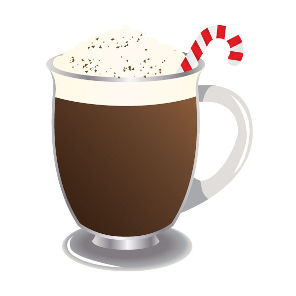 Clip art of hot chocolate.