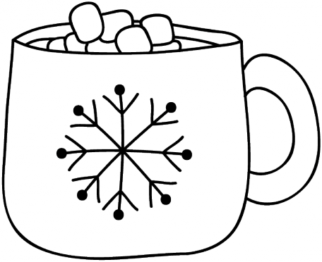 Hot Cocoa Doodle Template 001.
