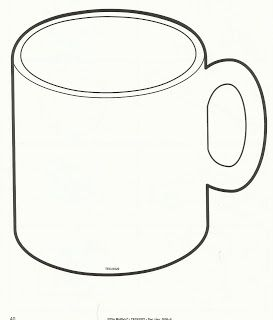 Hot Chocolate Mug Template Printable Sketch Coloring Page.