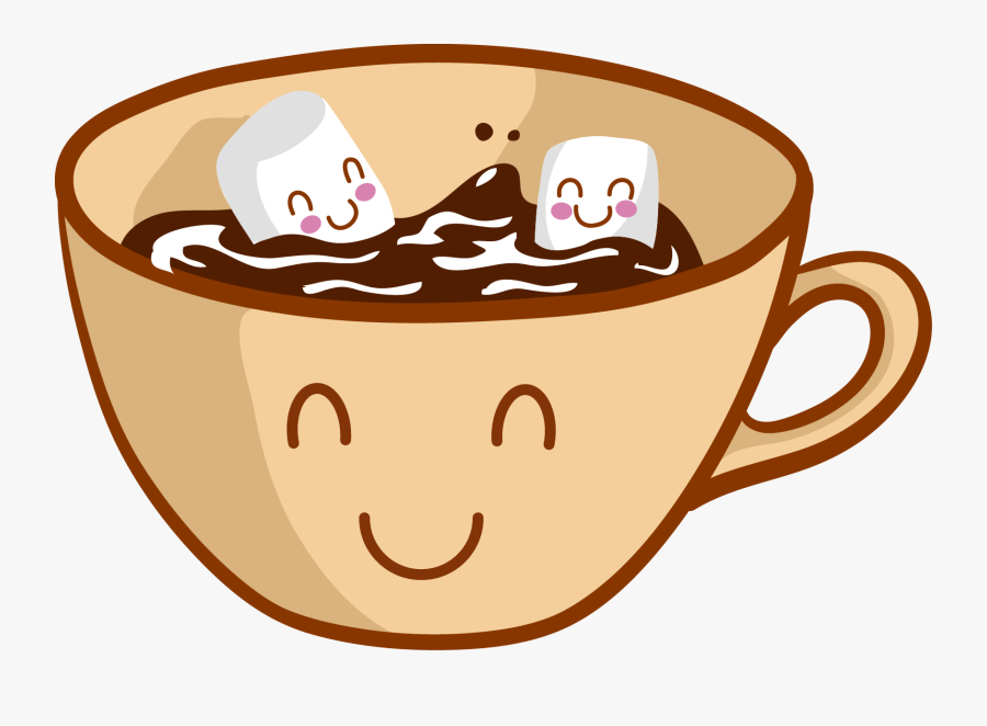 Cartoon Hot Chocolate With Marshmallows , Free Transparent.
