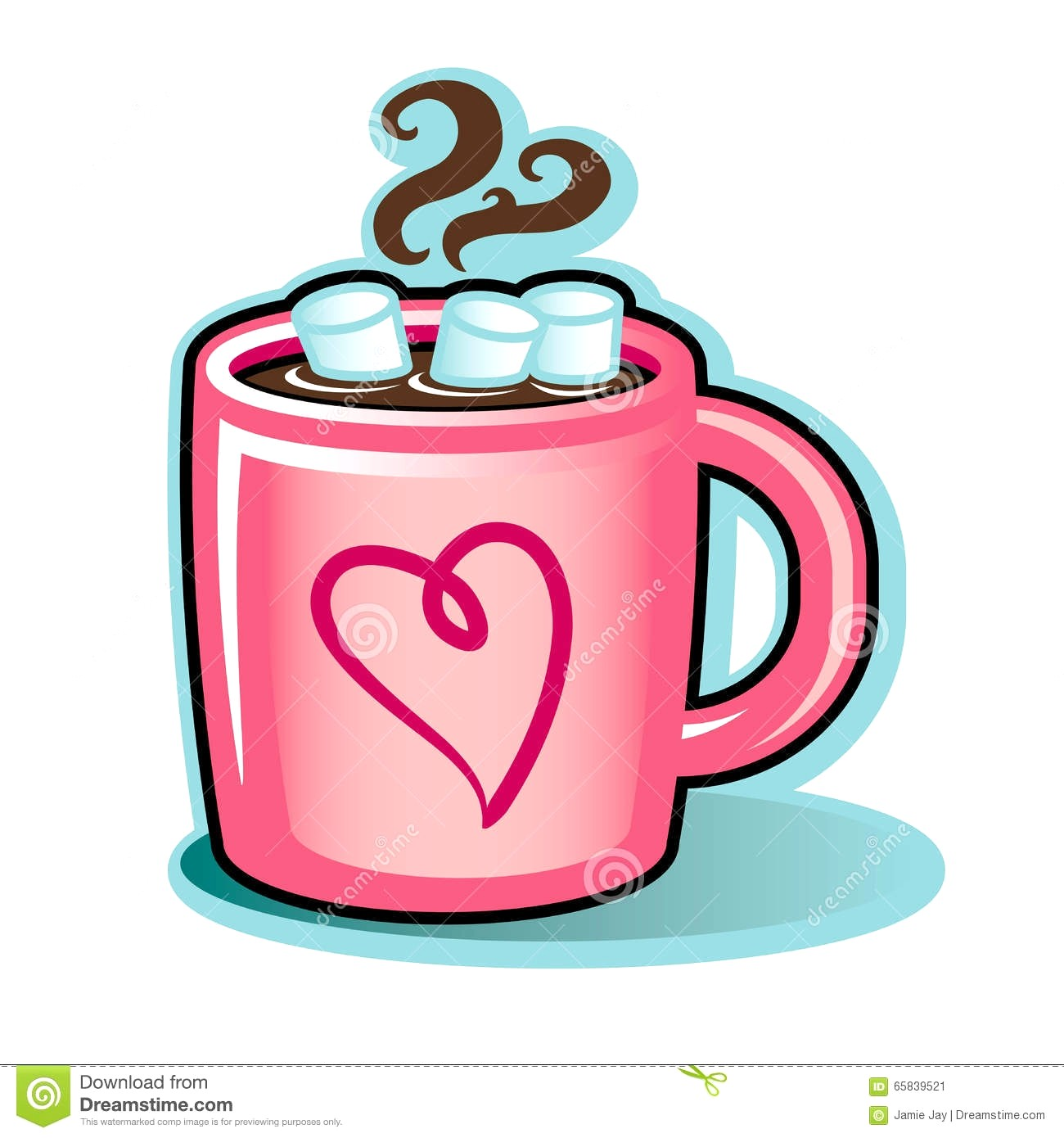 Hot cocoa with marshmallows clipart 1 » Clipart Station.