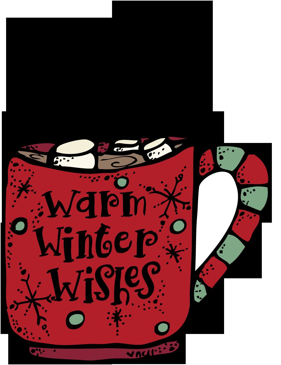 Christmas Hot Cocoa Clipart.