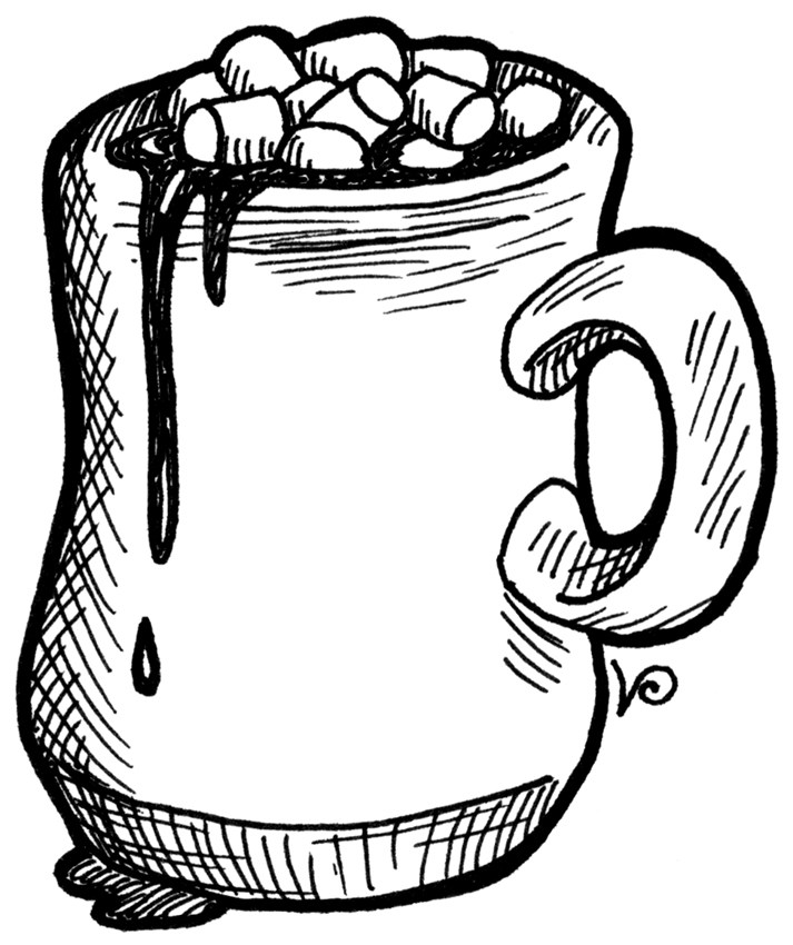 Hot cocoa clipart black and white 4 » Clipart Portal.