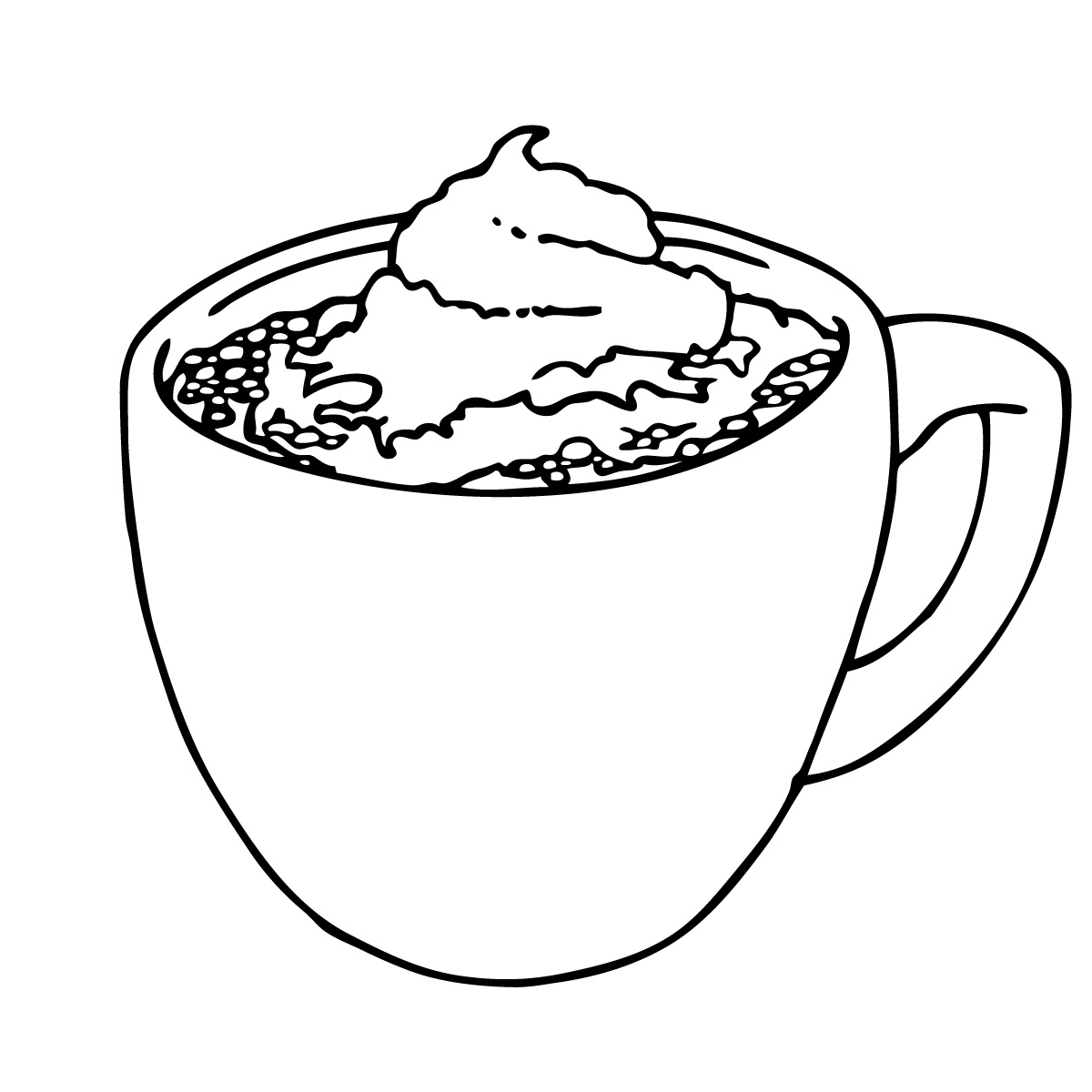 Hot Chocolate Clipart Black And White.