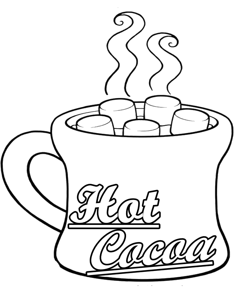 Free Hot Chocolate Clipart Black And White, Download Free Clip Art.