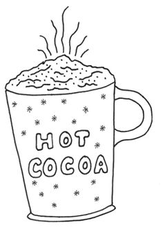 Free Hot Cocoa Clip Art Black And White, Download Free Clip Art.