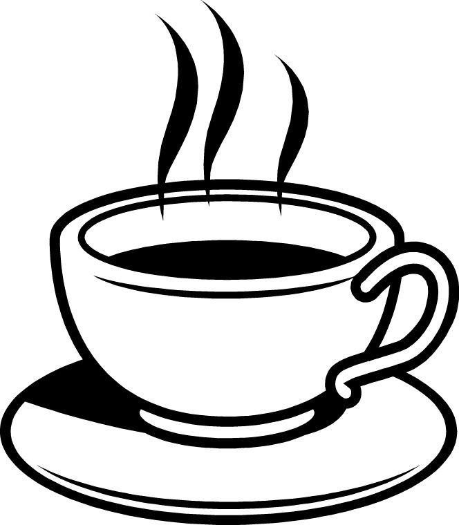 Hot coffee clipart black and white 1 » Clipart Portal.
