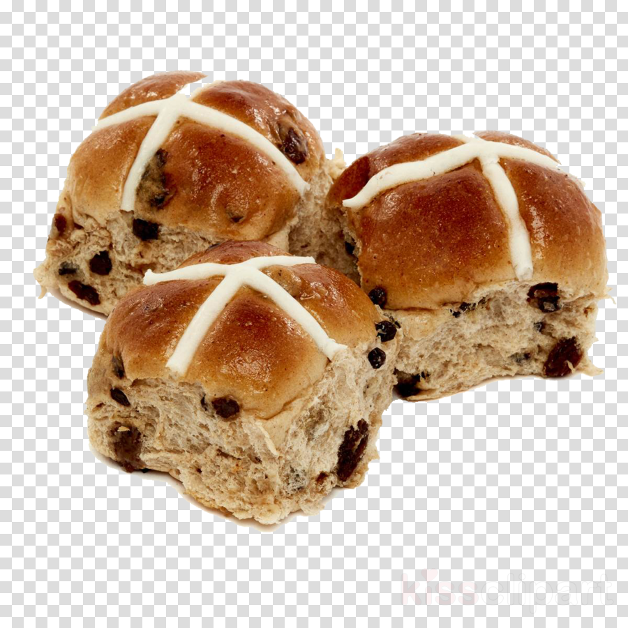 food bread hot cross bun bun cuisine clipart.