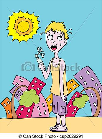 Hot summer day clipart.