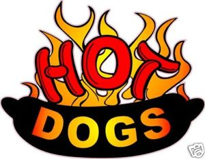 "Hot Dog Hotdog Concession Food Advertisement Decal 14""."