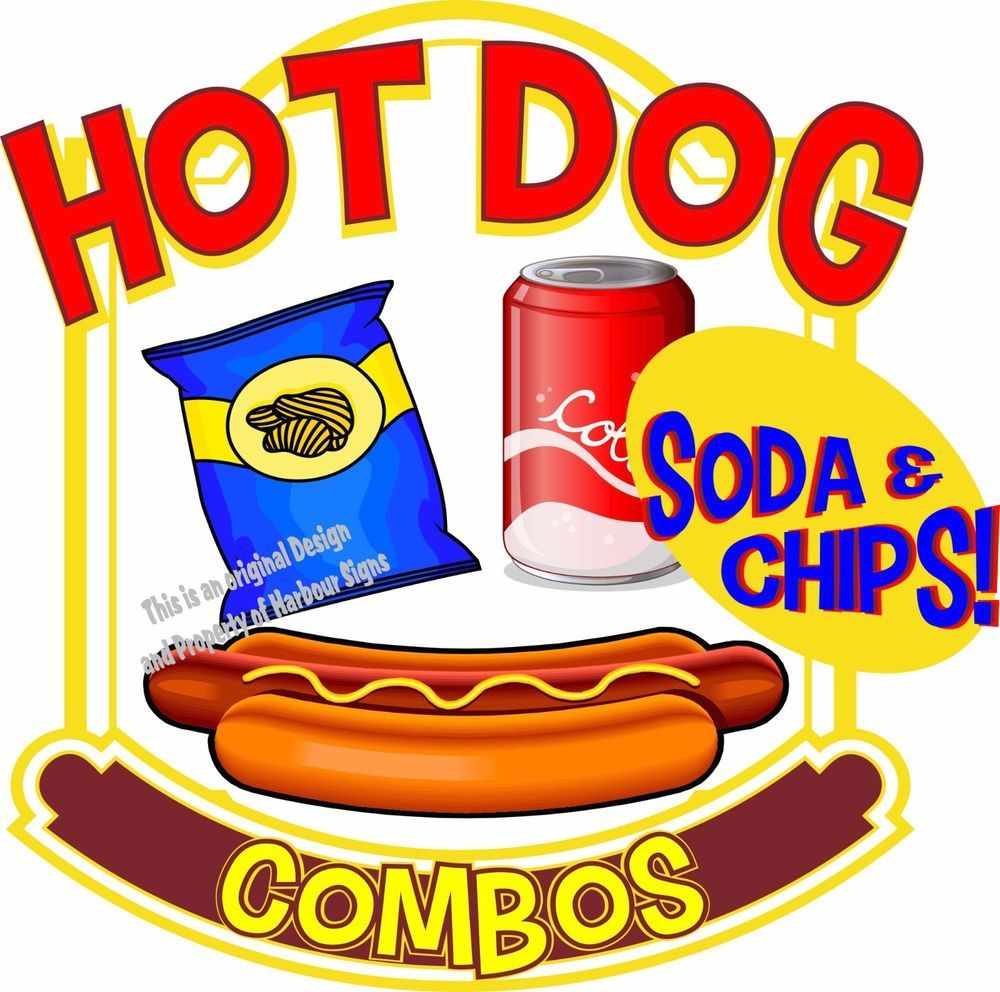 Details about Hot Dogs Soda Combos Decal 14\