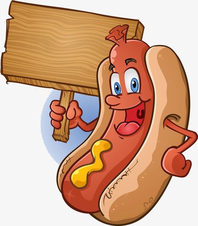 Free Cartoon Hot Dog PNG Transparent Cartoon Hot Dog.PNG.
