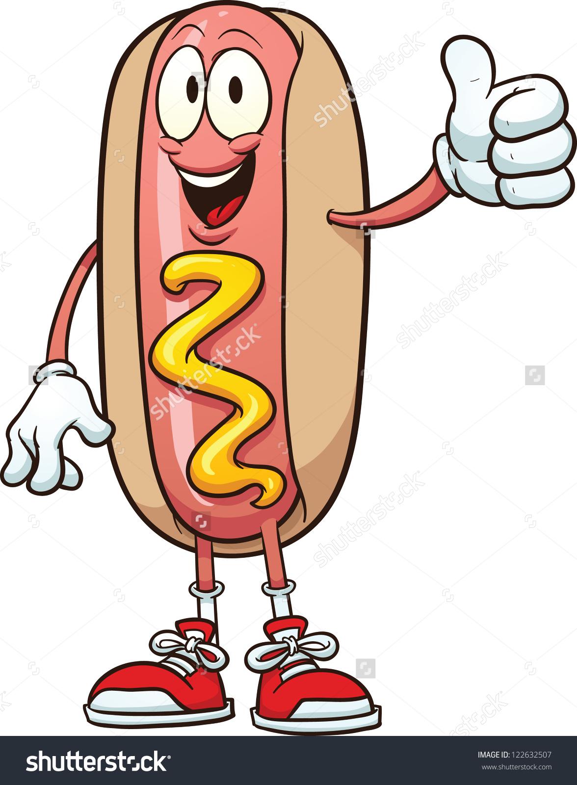 Bacon hot dog clipart.