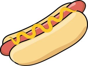 Hot Dog Clipart Image: Food.