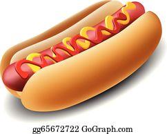 Hot Dogs Clip Art.