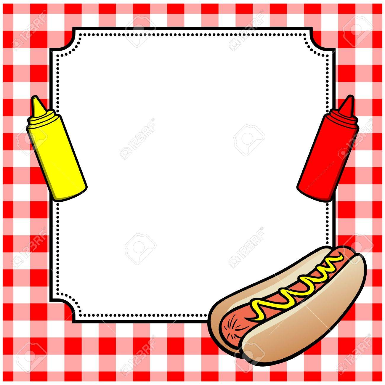 Hot Dog Cookout Invite.