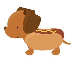 Running Hot Dog Clipart.