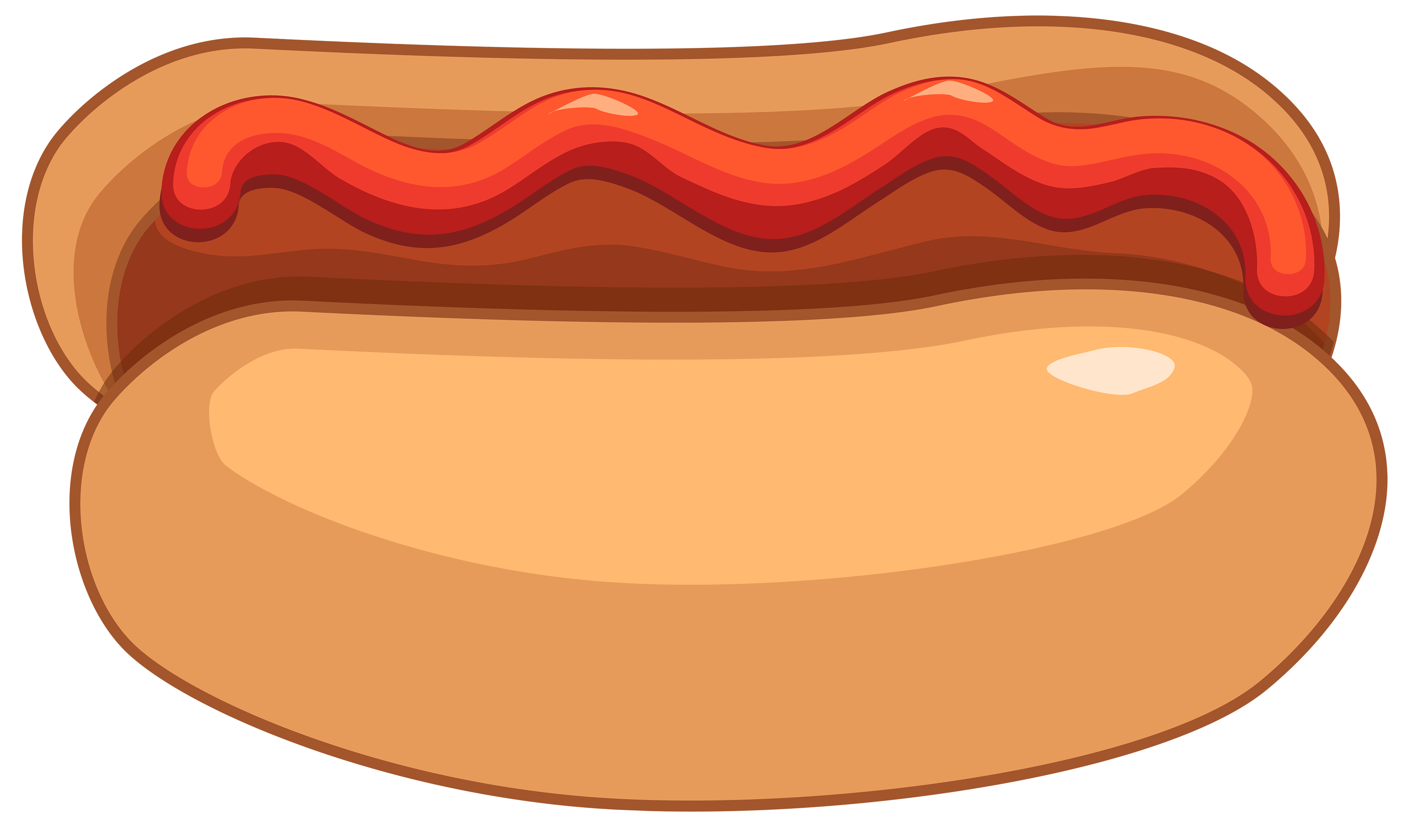 Hot Dog and Ketchup PNG Clipart.