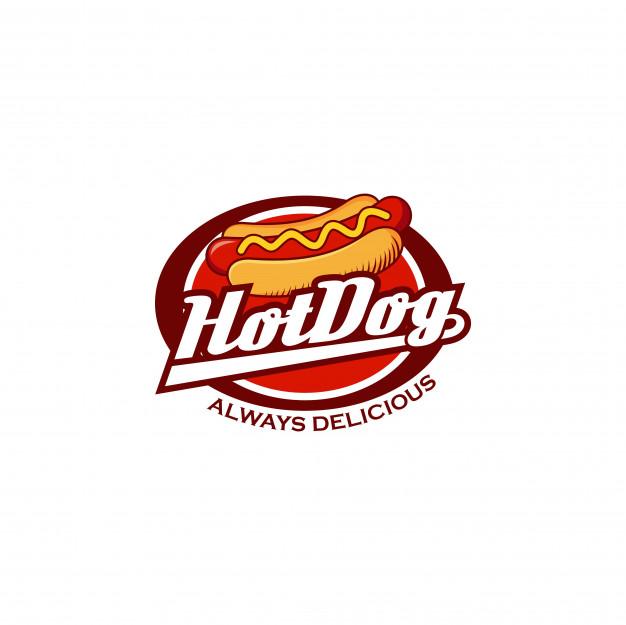 Hot dog logo badge Vector.