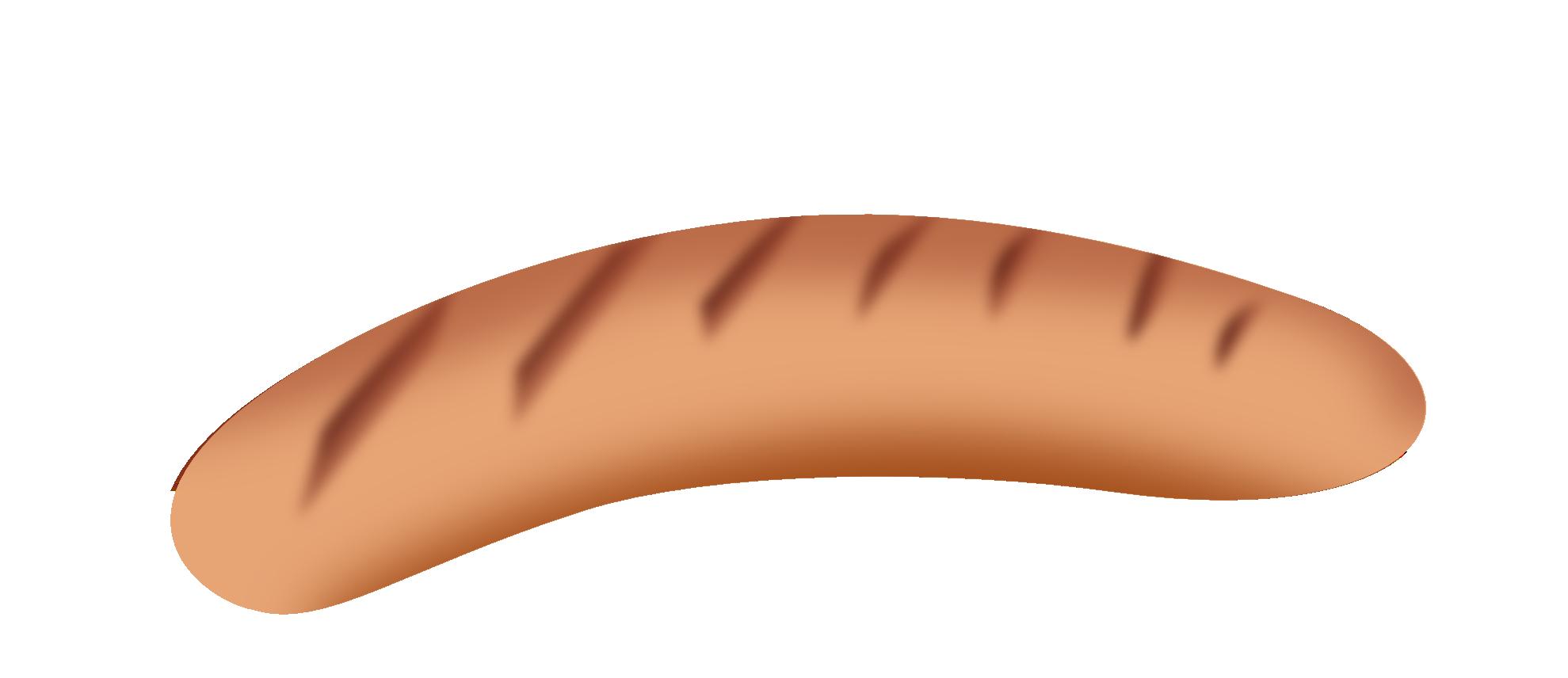 dog sausage PNG image.
