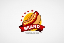 Exclusive Logo 165455, Hot Dog Delivery Logo.