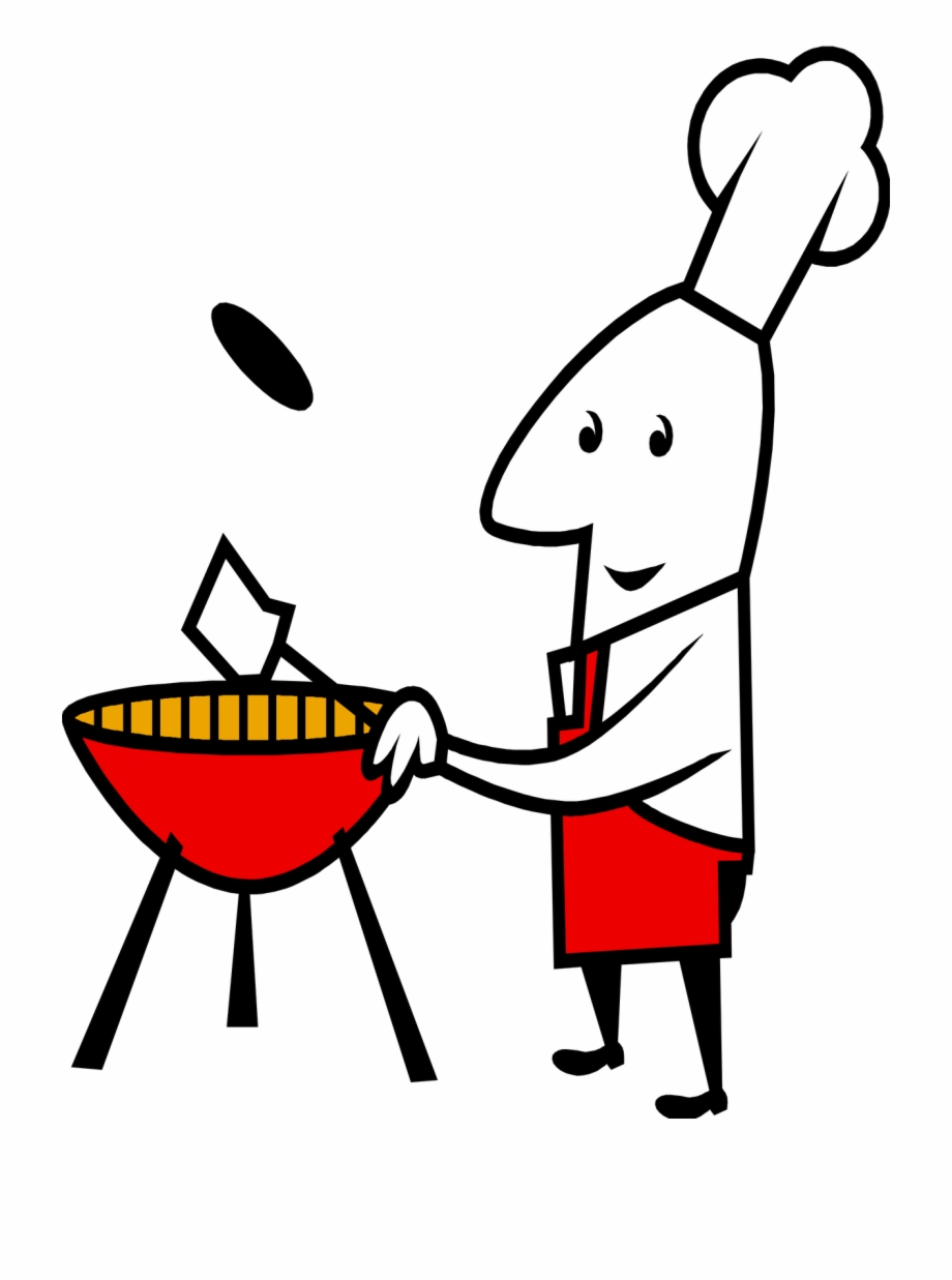 Grill Clipart Bbq Cook Hamburger And Hot Dog.