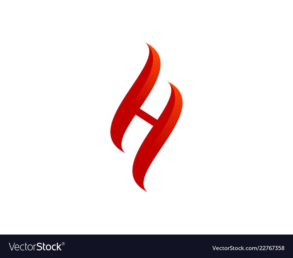 Hot letter h logo icon design.