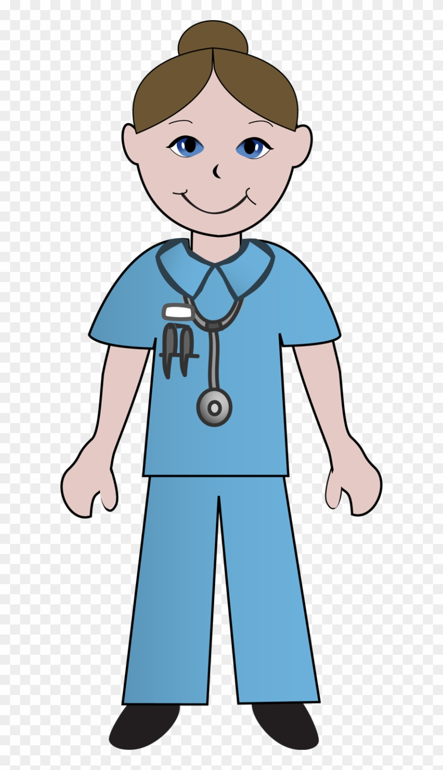 Free Clip Art School Nurse Clipart Image.
