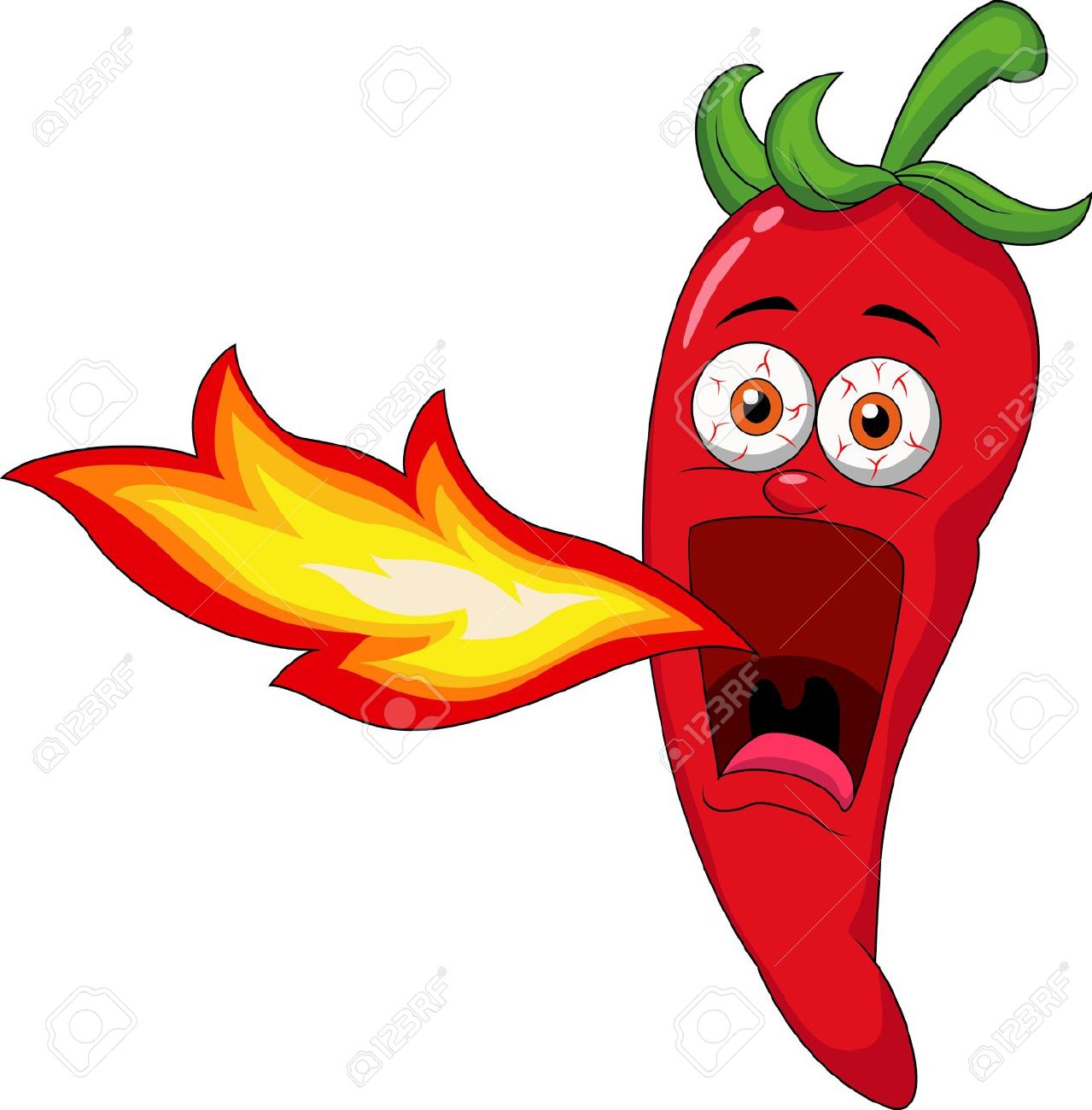 Hot pepper clipart.